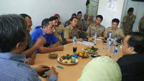 Rakor tentang pembahasan drainase jalan raya bojonggede