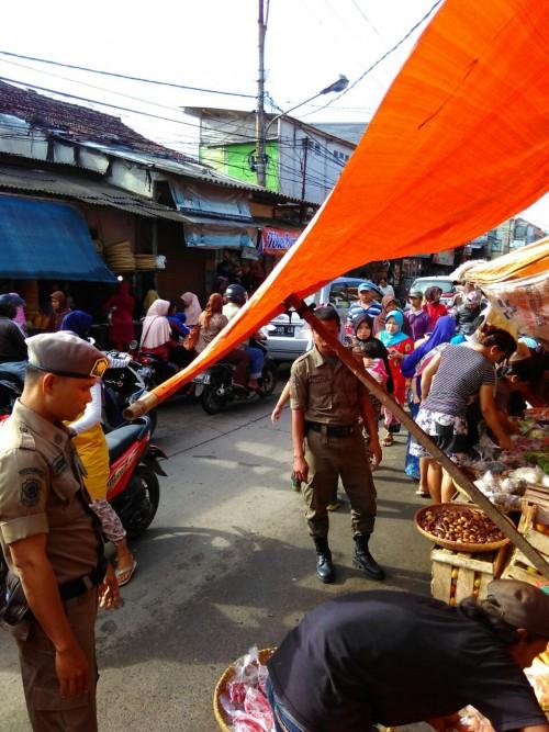 Penertiban Pedagang Kaki Lima di Pasar Desa Bojonggede