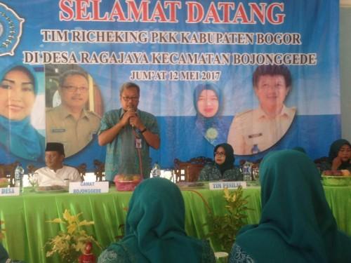 Penilaian Recheking dari PKK Kabupaten Bogor ke PKK Desa Raga Jaya